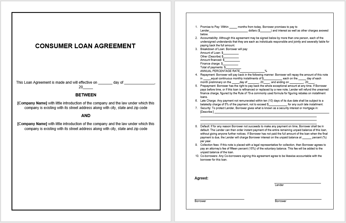 loan agreement template 08