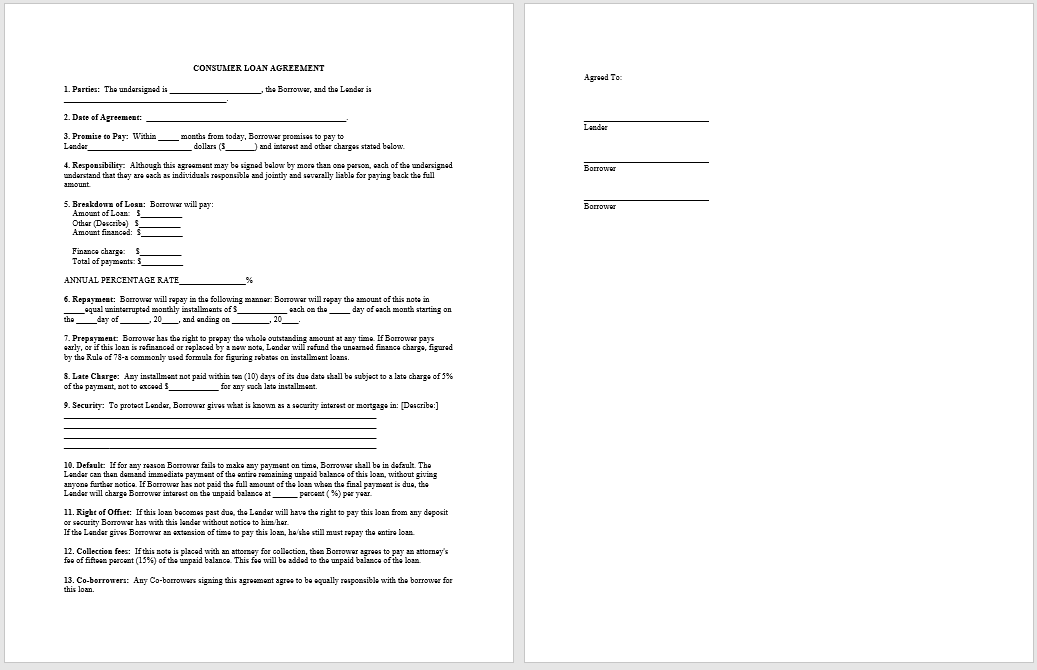 loan agreement template 14