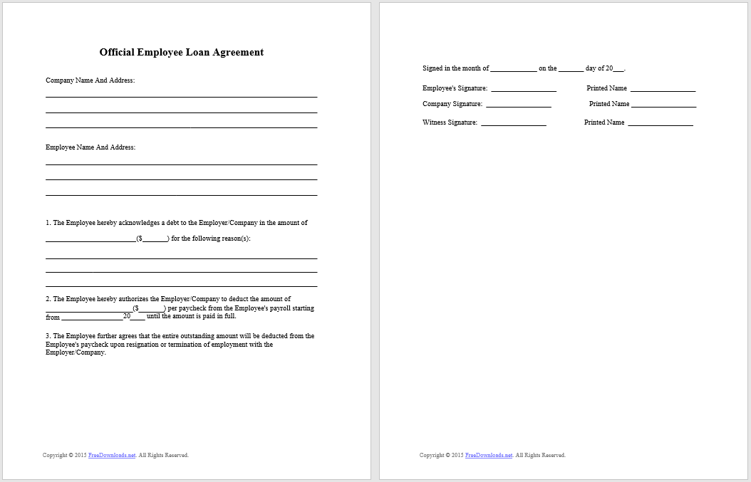 loan agreement template 19