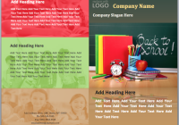 Back to School Brochure Template