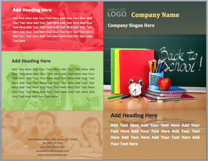 Back To School Brochure Template Word Templates - Teacher brochure template
