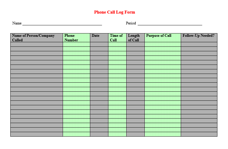 Sales Call List Templates - 5 Free Templates
