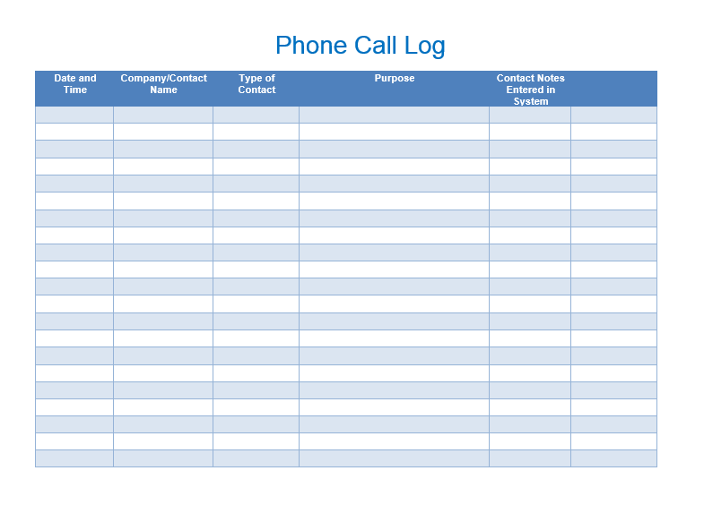 Sales Call List Templates