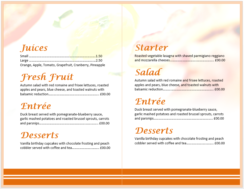 breakfast menu template 2