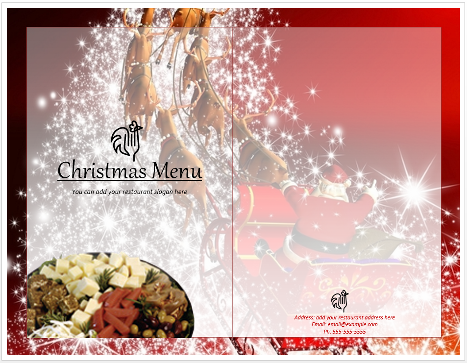 Christmas menu template word templates christmas menu template saigontimesfo