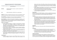 Employment Agreement for Technical Employee