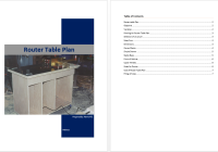 Router Table Plan Template