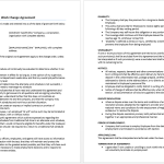 Work Change Agreement Template