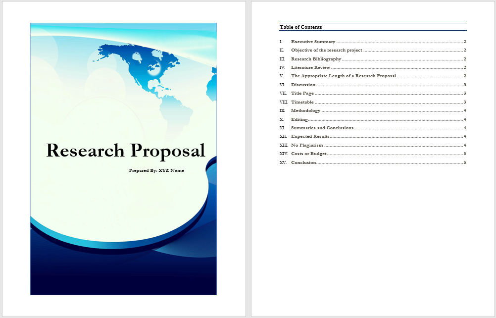 21 Free Research Proposal Templates Word Templates