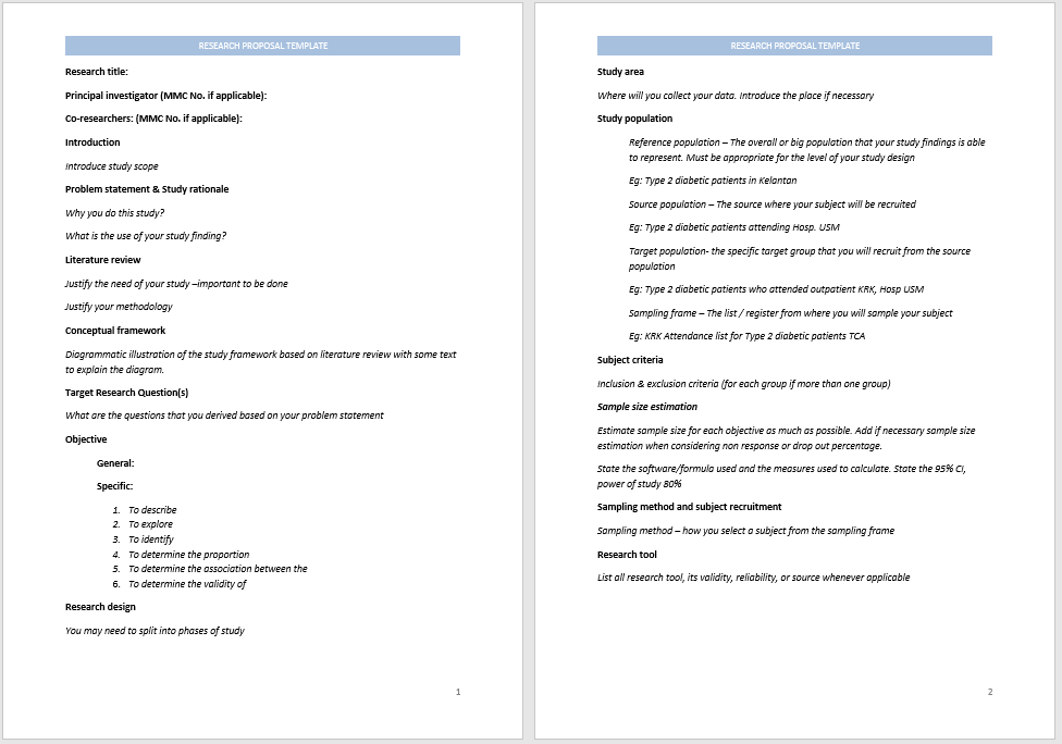 research proposal template 17