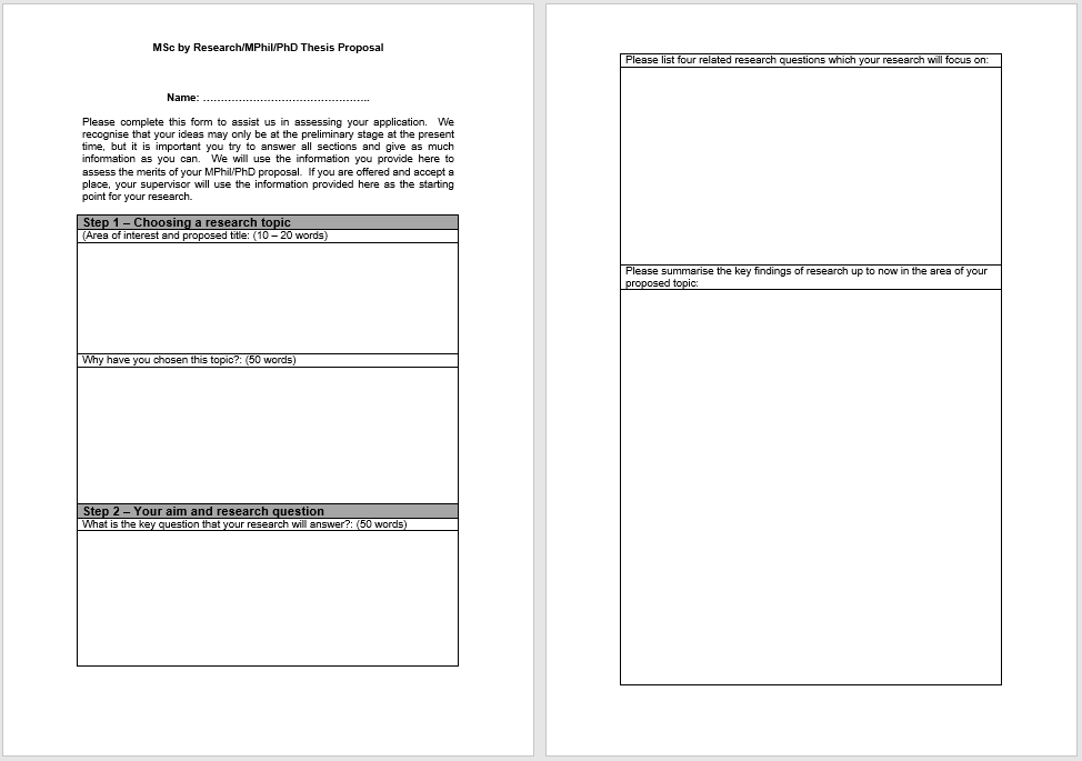 research proposal template 18