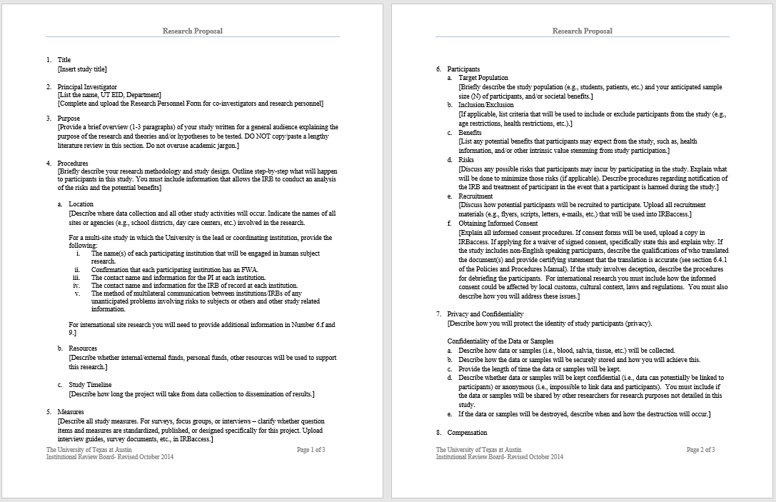 research proposal template 20