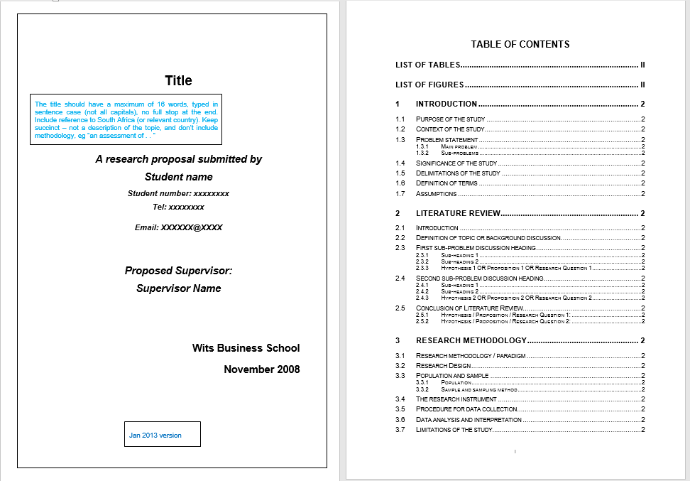research proposal template 21