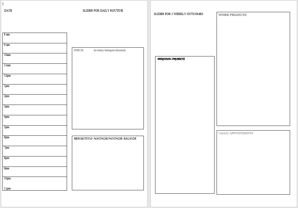 Daily Planner Template 06  Daily Task Scheduler Template