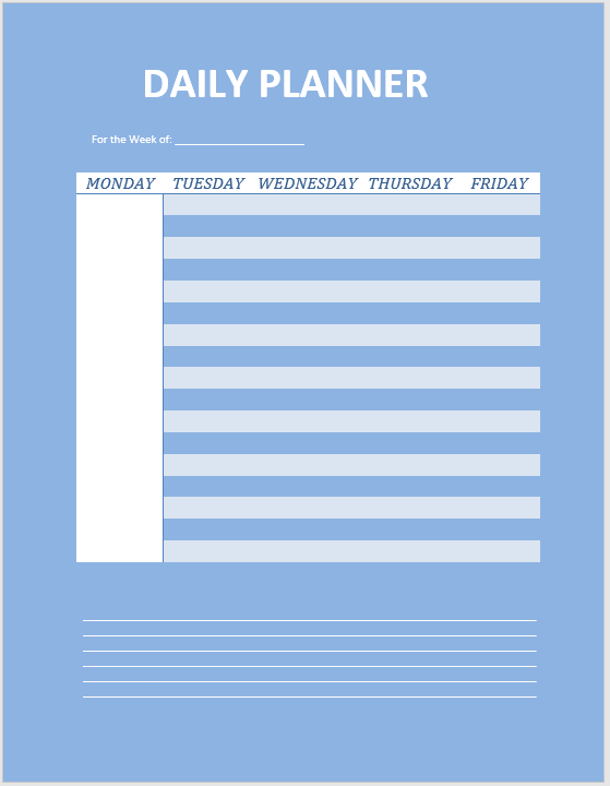 daily planner template 13