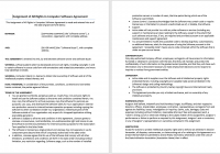 Computer Software Rights Agreement Template