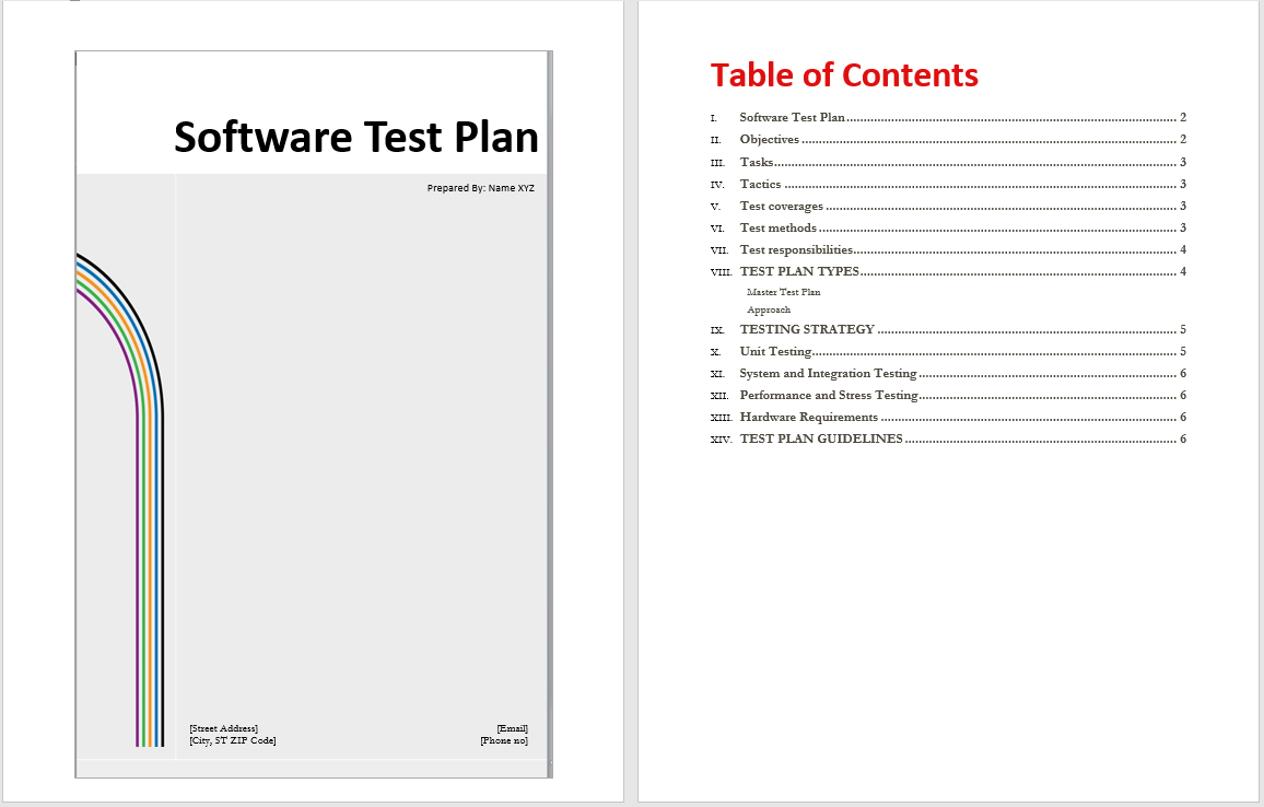 Beautiful hardware test plan template embellishment for Software test plan template word