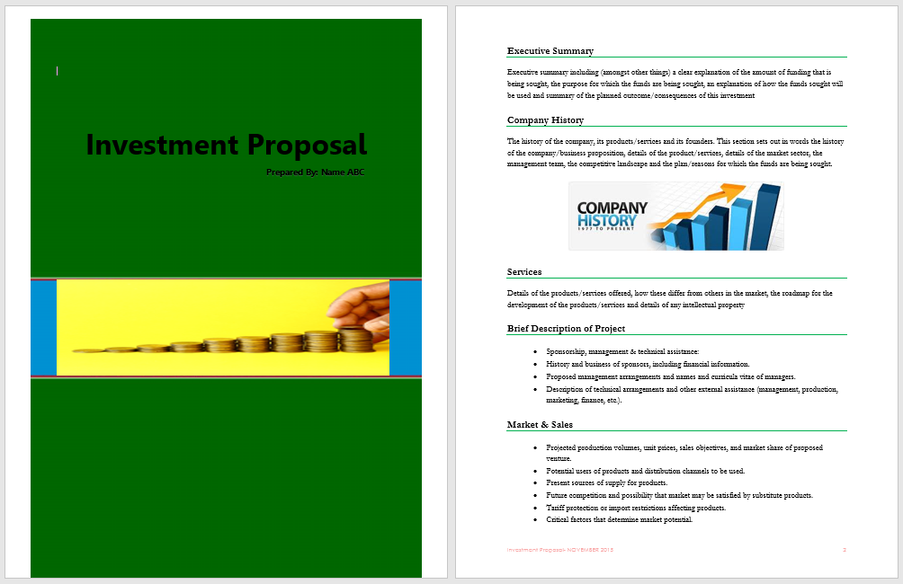 Investment Proposal Template | Format & Template