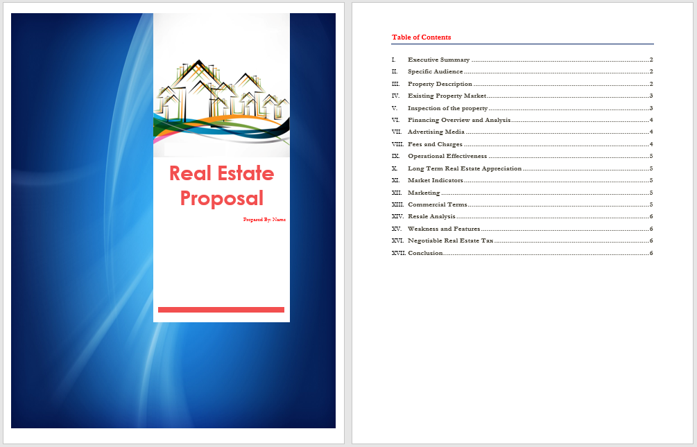 Modern Real Estate Proposal Template Mold Professional Resume