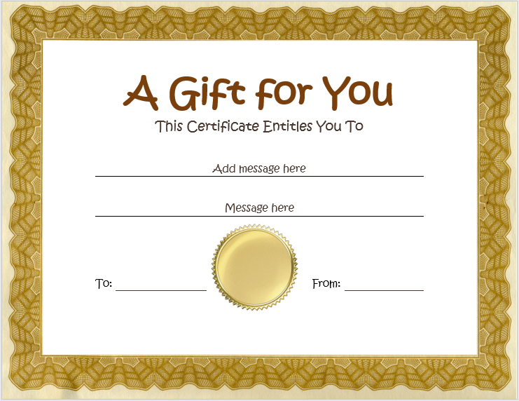 homemade gift certificates free printable gift