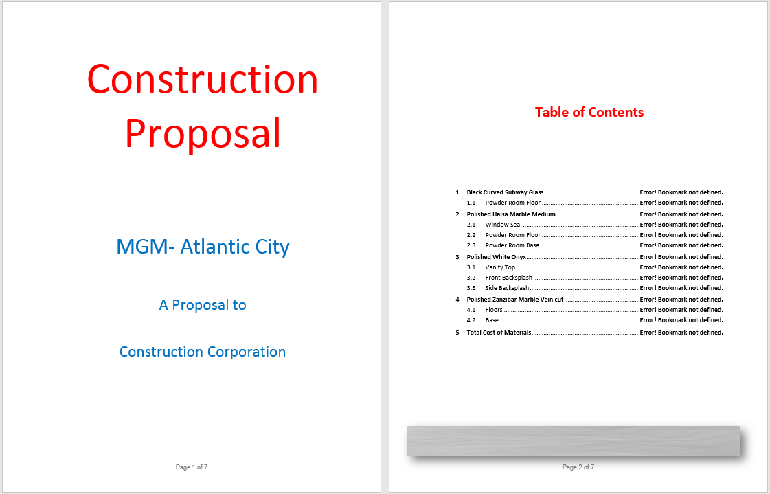 Construction Proposal Template 02  Free Construction Proposal Template