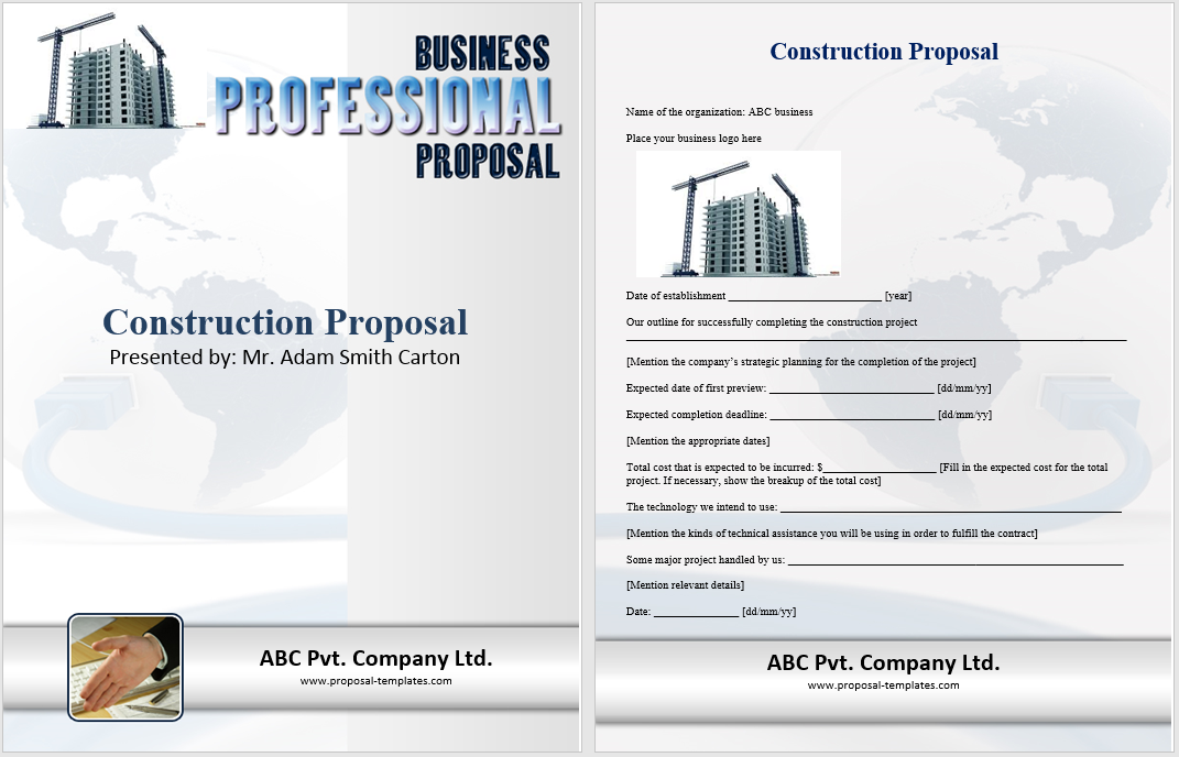 14 Free Construction Proposal Templates Word Templates