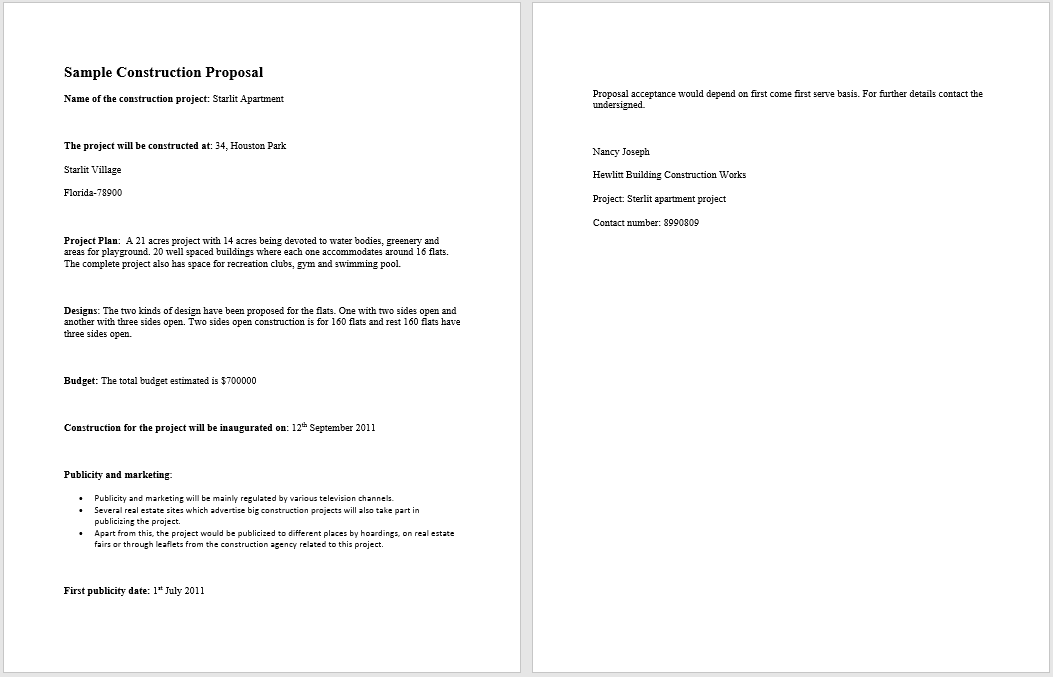 construction proposal template 10