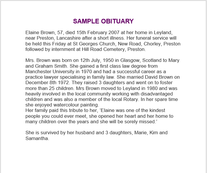 obituary notice sample 07