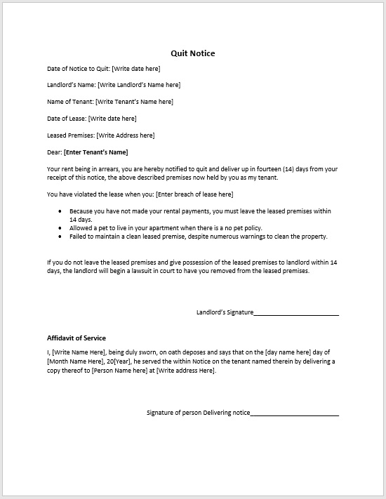 Contractor Layoff Notice Sample  Format  Template