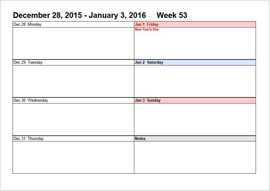 weekly schedule template 02