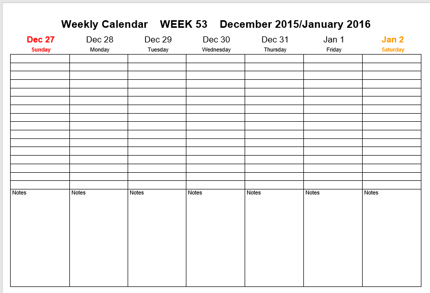 weekly schedule template 07