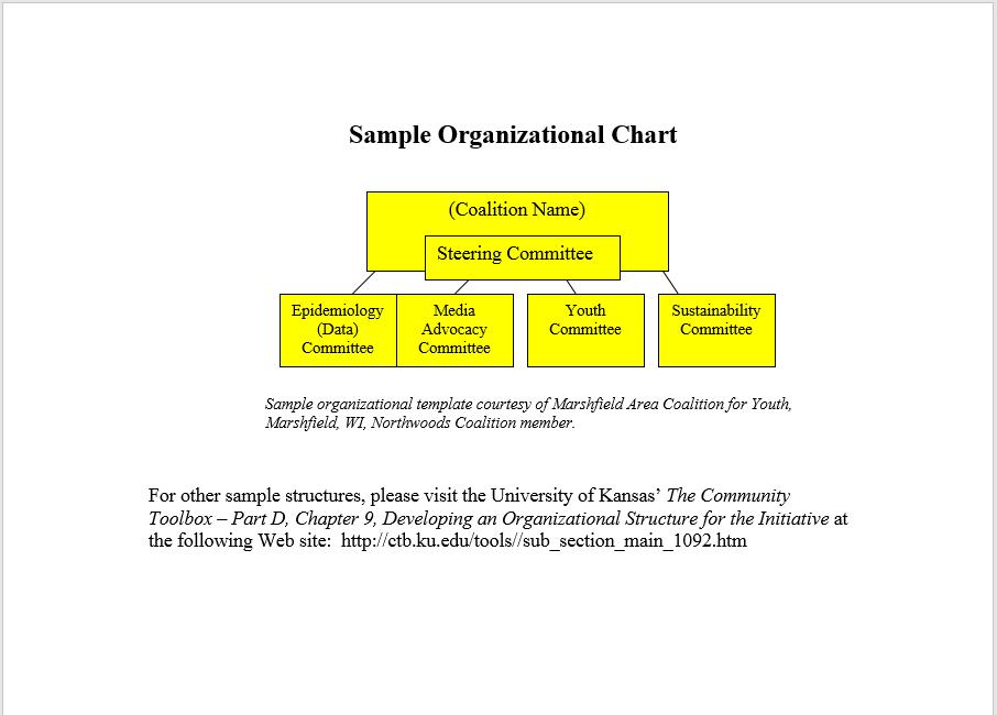organogram template 05