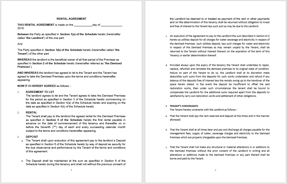 rental agreement template 03