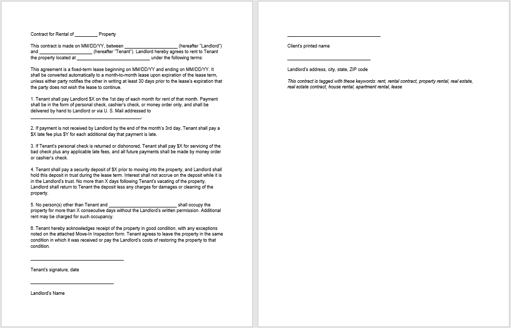 rental agreement template 07