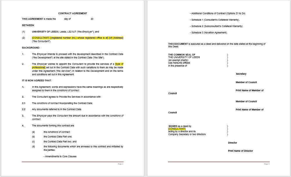 Consultancy Agreement Template 08