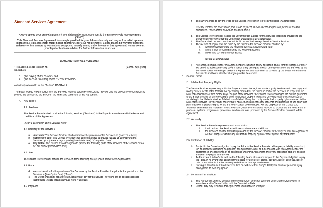 Consultancy Agreement Template 09