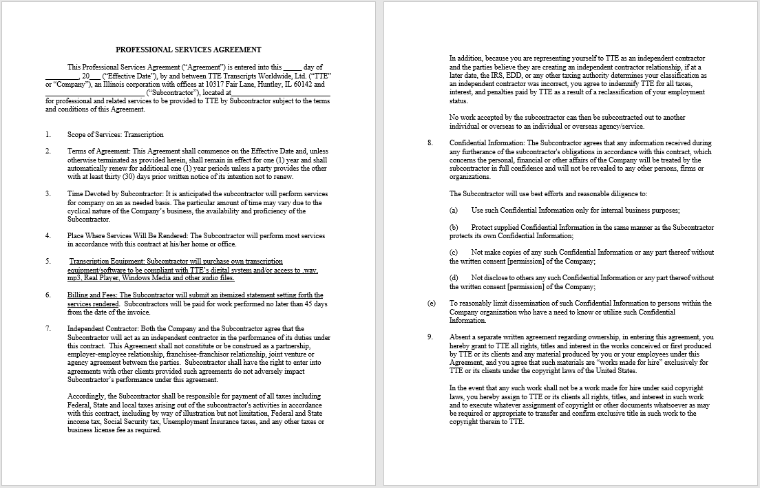 Consultancy Agreement Template 11