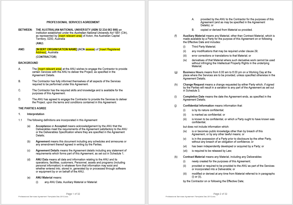 Consultancy Agreement Template 13