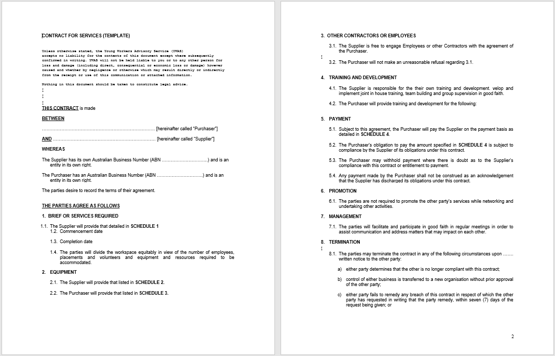 Consultancy Agreement Template 19