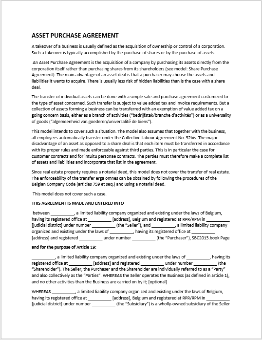 Purchase Contract Word Template 11