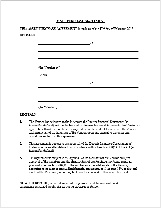 Purchase Contract Word Template 16