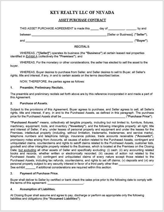 Purchase Contract Word Template 19