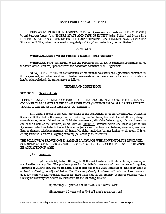 Purchase Contract Word Template 21