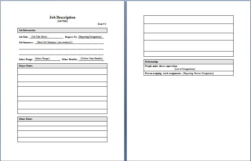 Job description templates 4 free templates word templates maxwellsz