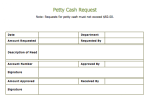 Cash Slip Template