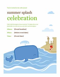 Summer Event Brochure Template