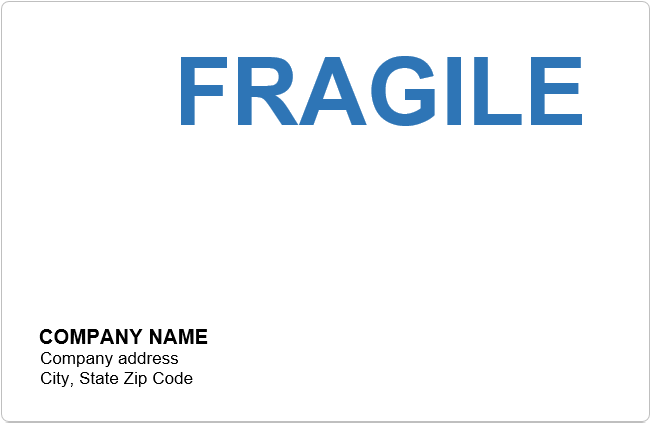 Fragile Label Template