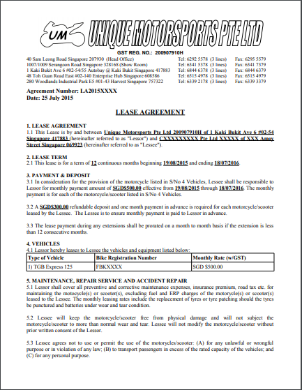 Car Lease Agreement Template 05