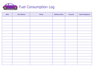 Fuel Consumption Log Template