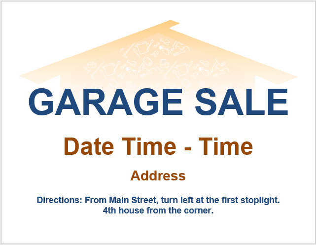 Garage Sale Flyer Template